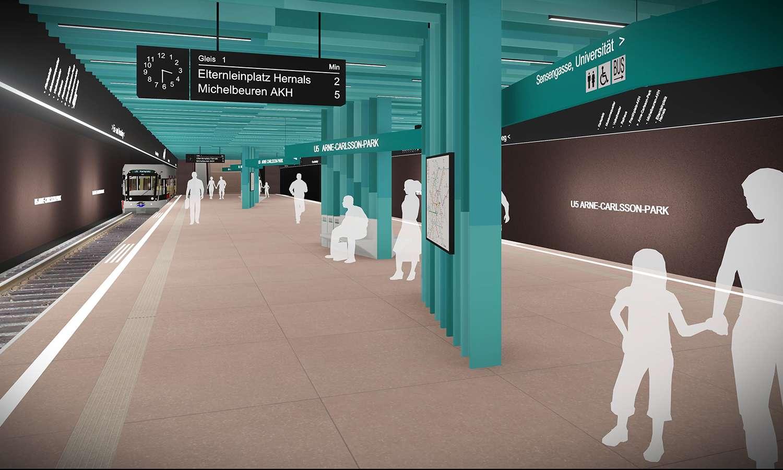 Bkls Wettbewerb Liniendesign U5 Wien